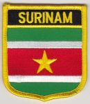 Surinam Embroidered Flag Patch, style 07.